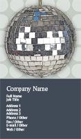 Disco Ball Business Card Template